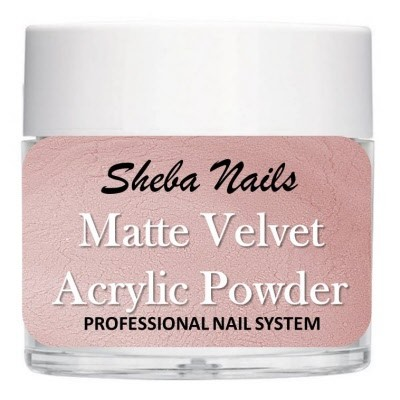 Matte Velvet Color Acrylic Powder - Rosy
