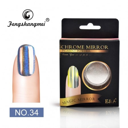 Magic Mirror Chrome Powder - #34 Chrome Shiny Holographic
