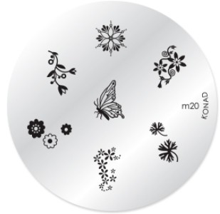 Konad Nail Art - Mønsterplate m20