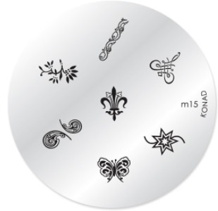 Konad Nail Art - Mønsterplate m15
