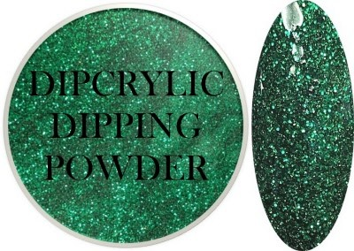 Dipcrylic Acrylic Dipping Powder - Glitter Collection - Sparkling Emerald