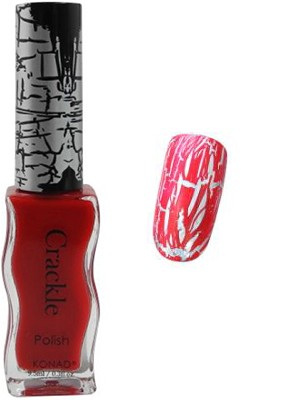 Konad Nail Art - Crackle Nail Polish - Red - CPC05