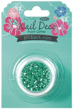 Konad Professional Nail Deco - Point Glitter - Blue Green