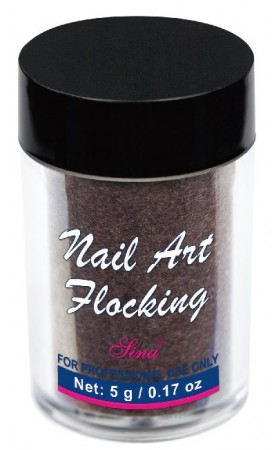 Flocking Nail Art - 01 - Brown
