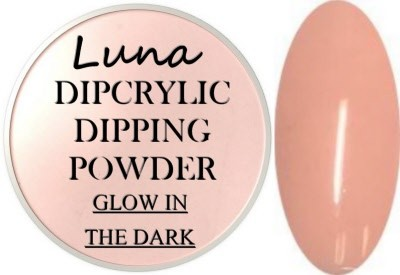 Dipcrylic Acrylic Dipping Powder - Glow in the Dark Collection - Luna Eclipse
