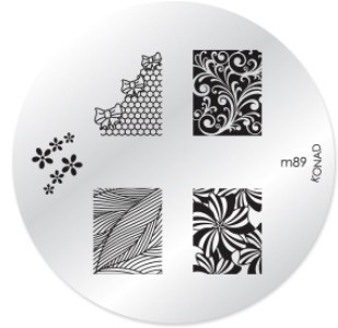 Konad Nail Art - Mønsterplate m89