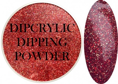 Dipcrylic Acrylic Dipping Powder - Glitter Collection - Holographic Lava
