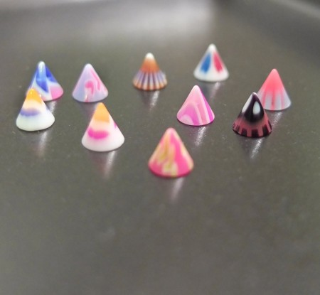 Groovey Acrylic Nail Art Cones