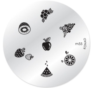 Konad Nail Art - Mønsterplate m55