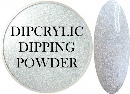 Dipcrylic Acrylic Dipping Powder - Glitter Collection - Pearl Frost