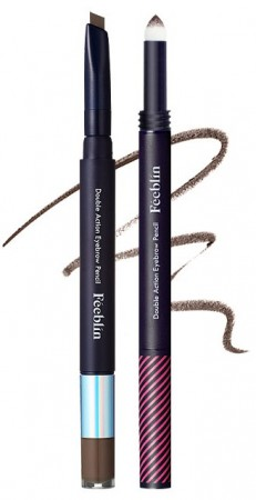 Feeblin Double Action Eyebrow Pencil 02 Dark Brown
