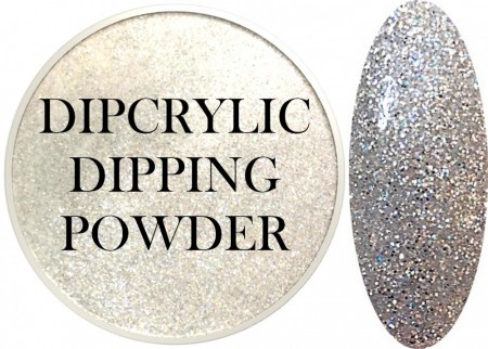 Dipcrylic Acrylic Dipping Powder - Glitter Collection - Snow Sparkles