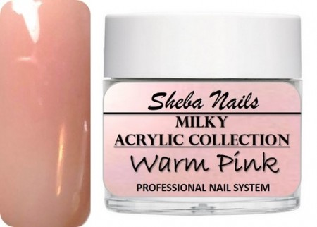 Nude Color Acrylic Powder - Milkies - Warm Pink