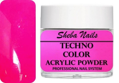 Techno Color Acrylic Powder - Neon Magenta