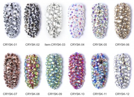 Six Mix Acrylic Rhinestone